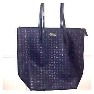 Authentic Lacoste Tote with zipper